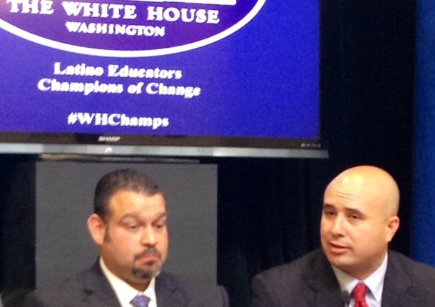 Dr. Gonzalo La Cava of Fulton County Schools addresses the White House event.