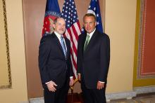 NSBA Exec. Dir. Tom Gentzel and House Speaker John Boehner