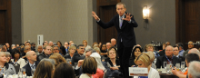 Ron Clark speaking at Magna